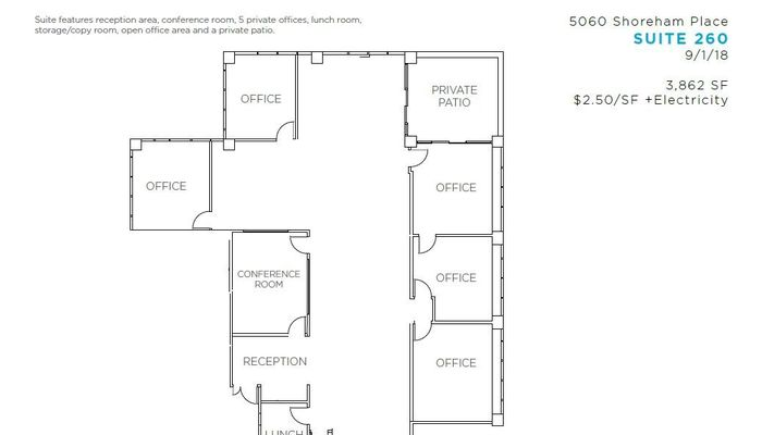 Office Space for Rent at 5060 Shoreham Pl San Diego, CA 92122 - #6